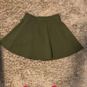 army green h&m skirt